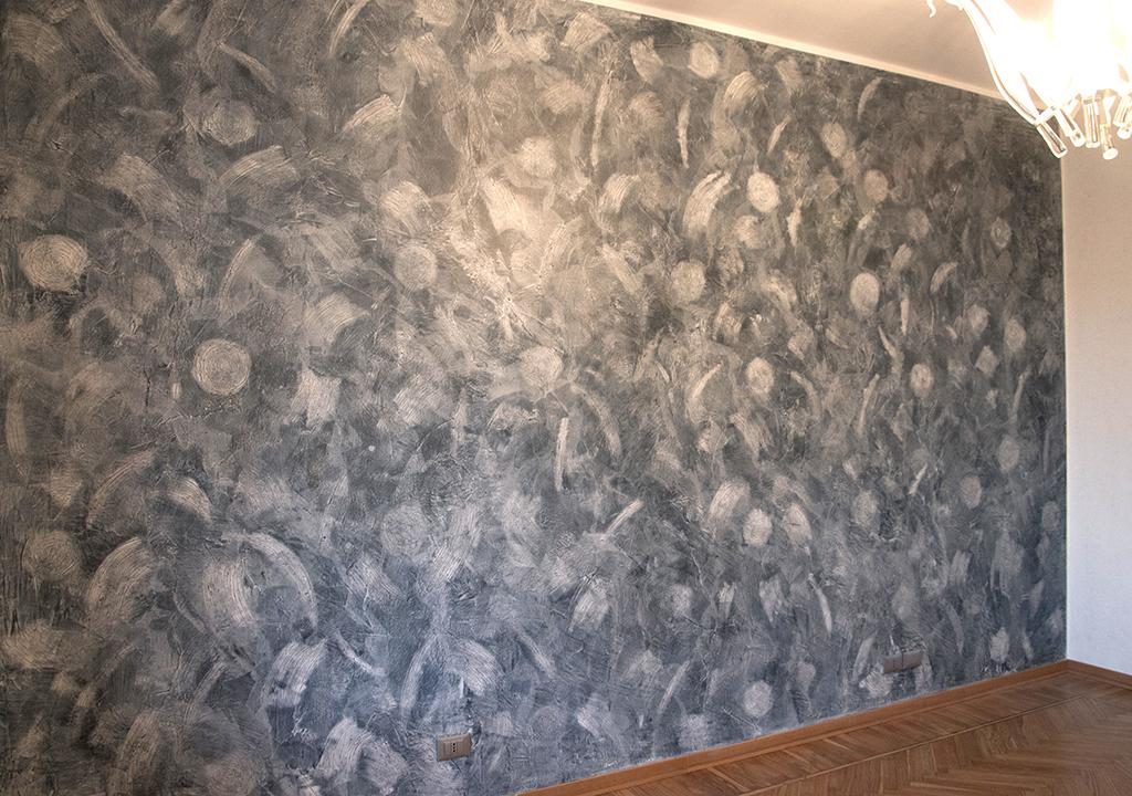 Simple parete effetto materico with effetti decorativi pareti - Effetti decorativi per interni ...